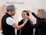 Beauty Lounge von Lancome und Douglas.
