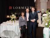 Andreas Rath von Lobmeyr (Mitte) mit seinen Mitarbeitern.