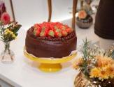 Schokoladige Erdbeertorte von the Cake Shop.